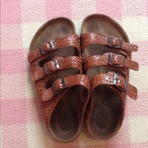 Rare! Woven Leather Birkenstock Sandals